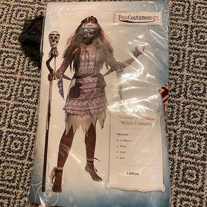 Women's Voodoo Witch Halloween Costume - Large